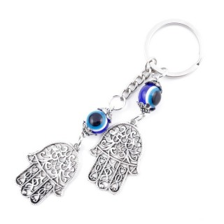 37350 METAL FASHION JEWELLERY KEYCHAIN WITH TURKISH EYE