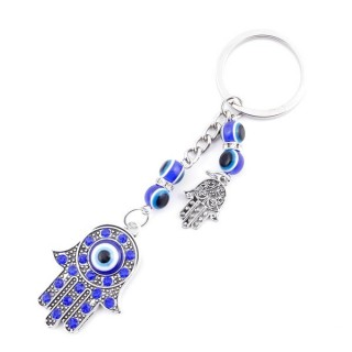 37352 METAL FASHION JEWELLERY KEYCHAIN WITH TURKISH EYE