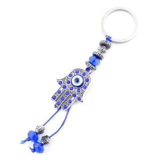 37353 METAL FASHION JEWELLERY KEYCHAIN WITH TURKISH EYE