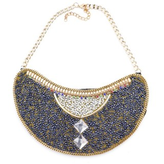 25117-05 BIB NECKLACE MADE WITH VARIOUS EMBELLISHMENTS ON SALE