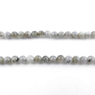 40204 STRING OF 66 BEADS OF 6 MM LABRADORITE