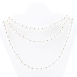 43063-01 SHELL PEARL 8 MM X 120 CM LONG NECKLACE