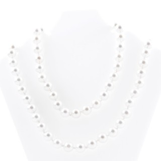 43072-01 SHELL PEARL 10 MM DIAMETER 90 CM LONG NECKLACE