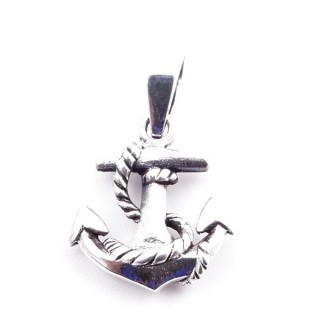 50166 ANCHOR SHAPED STERLING SILVER 17 X 15 MM PENDANT