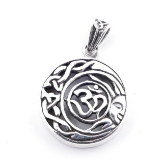 50153 STERLING SILVER PENDANT WITH OM SYMBOL 16 MM