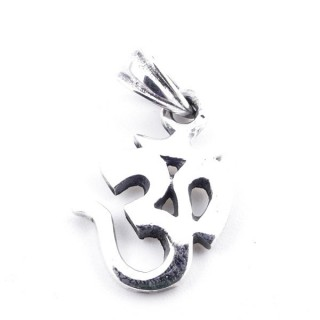 50171 STERLING SILVER PENDANT WITH OM SYMBOL 16 X 11 MM