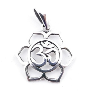 50170 STERLING SILVER PENDANT WITH OM SYMBOL 19 MM