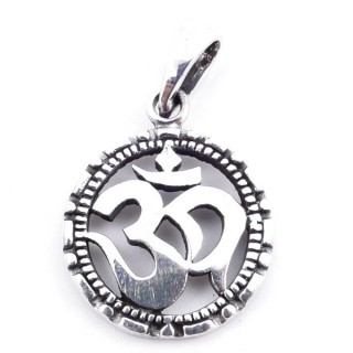 50155 STERLING SILVER PENDANT WITH OM SYMBOL 19 MM