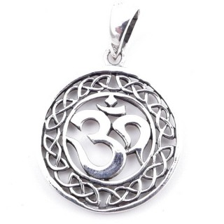 50151 STERLING SILVER PENDANT WITH OM SYMBOL 22 MM