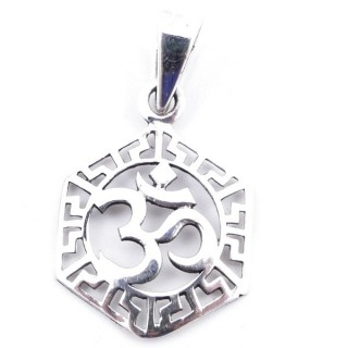 50169 STERLING SILVER PENDANT WITH OM SYMBOL 16 MM