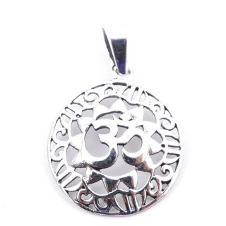 50165 STERLING SILVER PENDANT WITH OM SYMBOL 20 MM