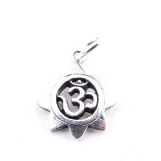 50167 STERLING SILVER PENDANT WITH OM SYMBOL 13 MM