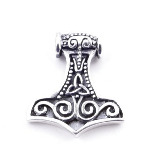 50147 STERLING SILVER 23 X 20 MM THOR'S HAMMER SHAPED PENDANT