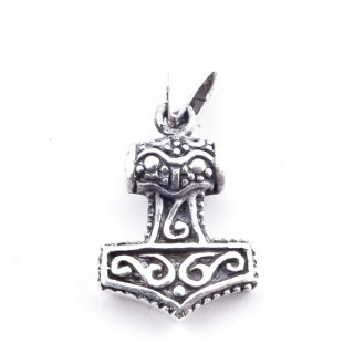 50150 STERLING SILVER 19 X 13 MM THOR'S HAMMER SHAPED PENDANT