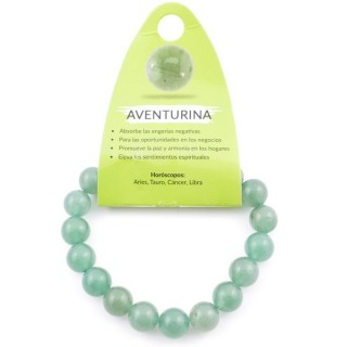 37637-12 ELASTIC 10 MM NATURAL STONE BRACELET IN AVENTURINE