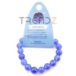 37637-50 ELASTIC 10 MM NATURAL STONE BRACELET IN BLUE RUTILE QUARTZ
