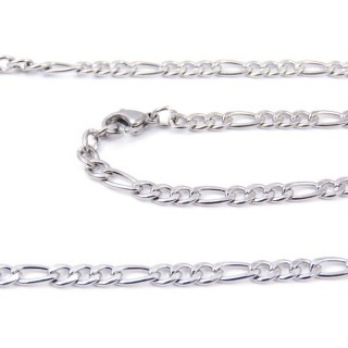 33634 STAINLESS STEEL 60 CMS LONG CHAIN WITH LOBSTER CLASP