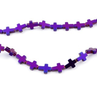 42637-03 STRING OF 40 CMS WITH 6 X 8 MM HEMATITE BEADS
