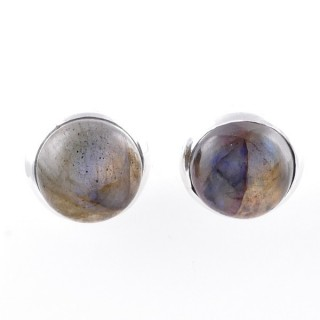 58025-08 STERLING SILVER 12 MM POST EARRINGS WITH LABRADORITE