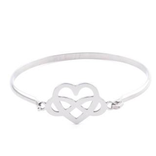 32311-46 STAINLESS STEEL BANGLE WITH CHARM