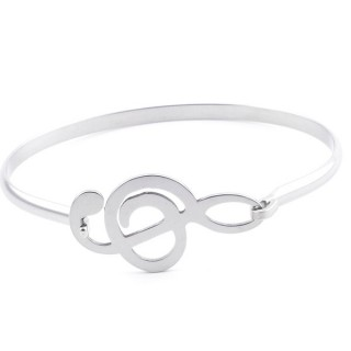 32311-47 STAINLESS STEEL BANGLE WITH CHARM
