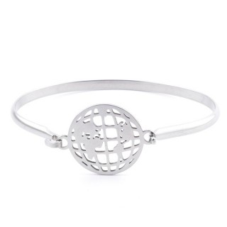 32311-49 STAINLESS STEEL BANGLE WITH CHARM