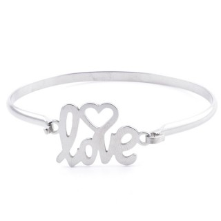 32311-50 STAINLESS STEEL BANGLE WITH CHARM