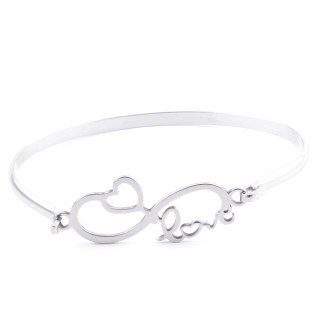 32311-51 STAINLESS STEEL BANGLE WITH CHARM