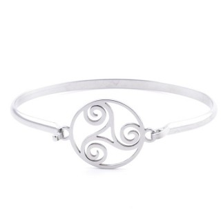 32311-52 STAINLESS STEEL BANGLE WITH CHARM