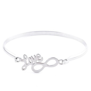 32311-53 STAINLESS STEEL BANGLE WITH CHARM