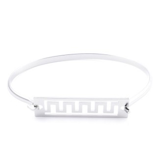 32311-54 STAINLESS STEEL BANGLE WITH CHARM