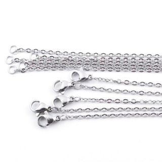 37721 PACK OF 5 STAINLESS STEEL 2 MM X 50 CM CHAINS