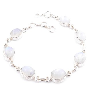 58303-05 STERLING SILVER 20 CM BRACELET WITH MOONSTONE STONES