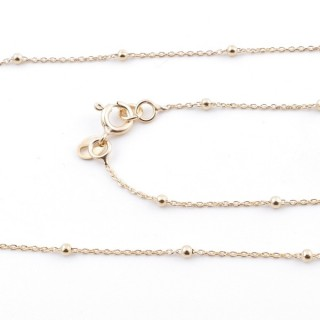 39591 STERLING SILVER 45 CM CHAIN: FORZA 30 + PALL 2 GOLD