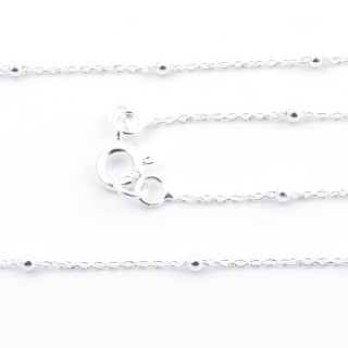 39585 STERLING SILVER 40 CM CHAIN: FORZA 30 + PALL 2
