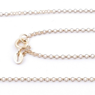 39580 STERLING SILVER 1.8 MM X 40 CM CHAIN: R000  GOLD