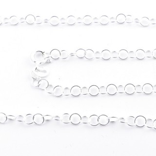 39570 STERLING SILVER 4 MM X 40 CM CHAIN: R111