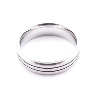 36808 PACK OF 10 STAINLESS STEEL RINGS IN ASSORTED SIZES. THICKNESS: 6 MM
