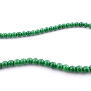 42675-10 40 CM STRING OF 6 MM DYED TURQUOISE BEADS