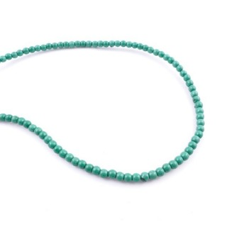42674-07 40 CM STRING OF 4 MM DYED TURQUOISE BEADS