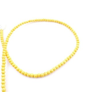 42674-11 40 CM STRING OF 4 MM DYED TURQUOISE BEADS
