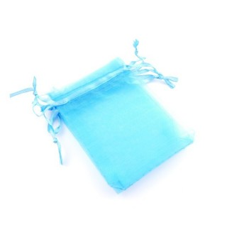 37384-01 PACK OF 100 ORGANZA GIFT BAGS. SIZE: 7 X 9 CM