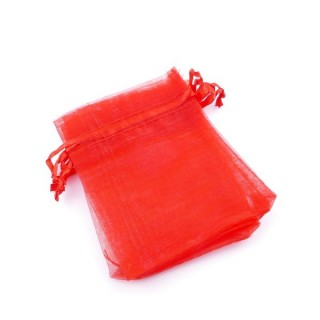 37384-02 PACK OF 100 ORGANZA GIFT BAGS. SIZE: 7 X 9 CM