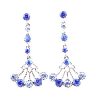 38198-01 METAL AND CZECH CRYSTAL 53 X 24 MM EARRINGS