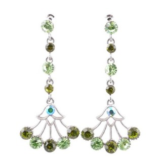 38198-02 METAL AND CZECH CRYSTAL 53 X 24 MM EARRINGS