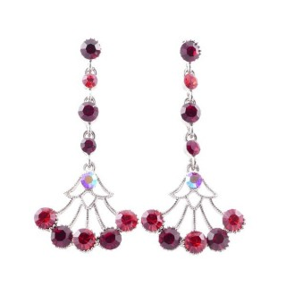 38198-03 METAL AND CZECH CRYSTAL 53 X 24 MM EARRINGS