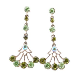38198-04 METAL AND CZECH CRYSTAL 53 X 24 MM EARRINGS