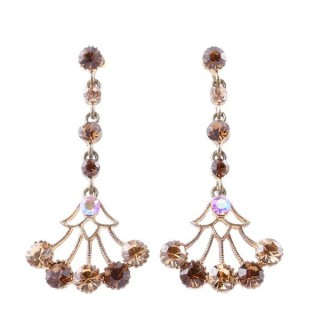 38198-10 METAL AND CZECH CRYSTAL 53 X 24 MM EARRINGS