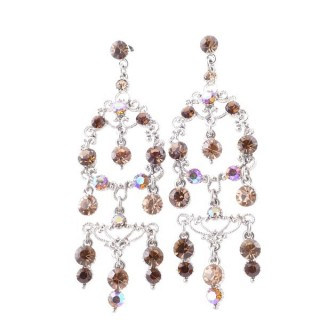 38199-01 METAL AND CZECH CRYSTAL 72 X 24 MM EARRINGS