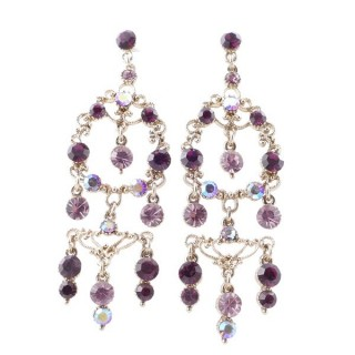 38199-02 METAL AND CZECH CRYSTAL 72 X 24 MM EARRINGS